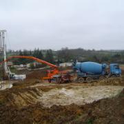 Résidence Du Guesclin Pilotis creusement et betonnage