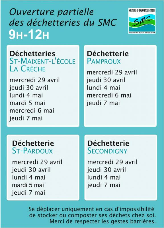 Reouverture dechetteries page001